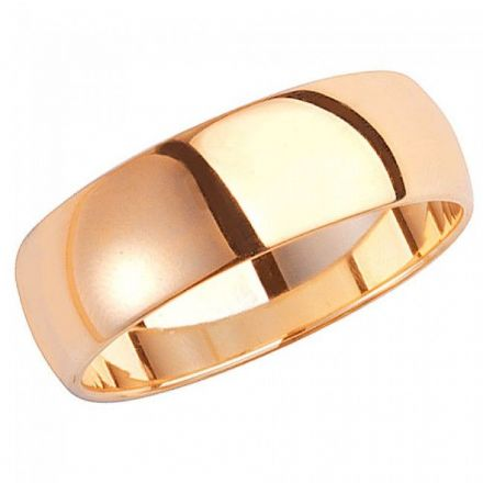 Yellow GOLD WEDDING RING 9K D SHAPE 7 MM, W107H